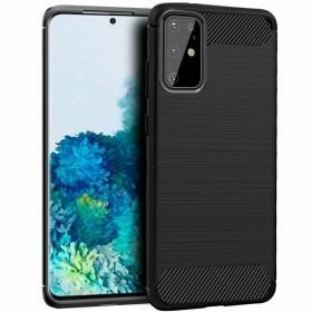 Samsung Galaxy S20 PLUS karbon (carbon) mintás szilikon telefontok, FEKETE - mobshop.hu