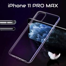 iPhone 11 PRO MAX szilikon telefontok, ÁTLÁTSZÓ - mobshop.hu