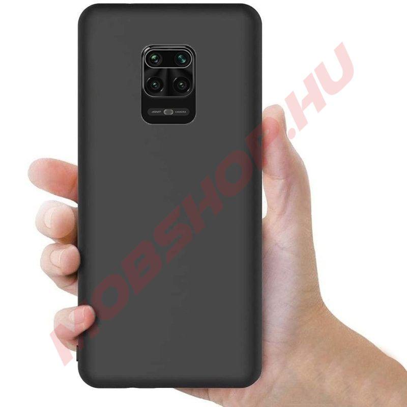 Xiaomi Redmi Note 9 / 9S / 9 PRO / 9 PRO MAX szilikon tok, FEKETE - mobshop.hu