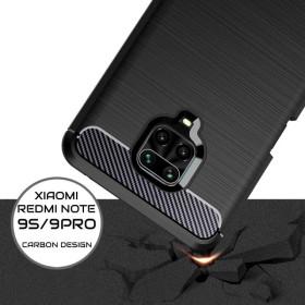 Xiaomi Redmi Note 9 / 9S / 9 PRO / 9 PRO MAX karbon (carbon) mintás szilikon tok, FEKETE - mobshop.hu