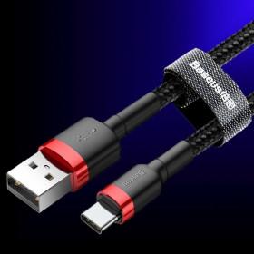 Baseus Type-C 2A gyors töltő/adatkábel, 2m, FEKETE - mobshop.hu