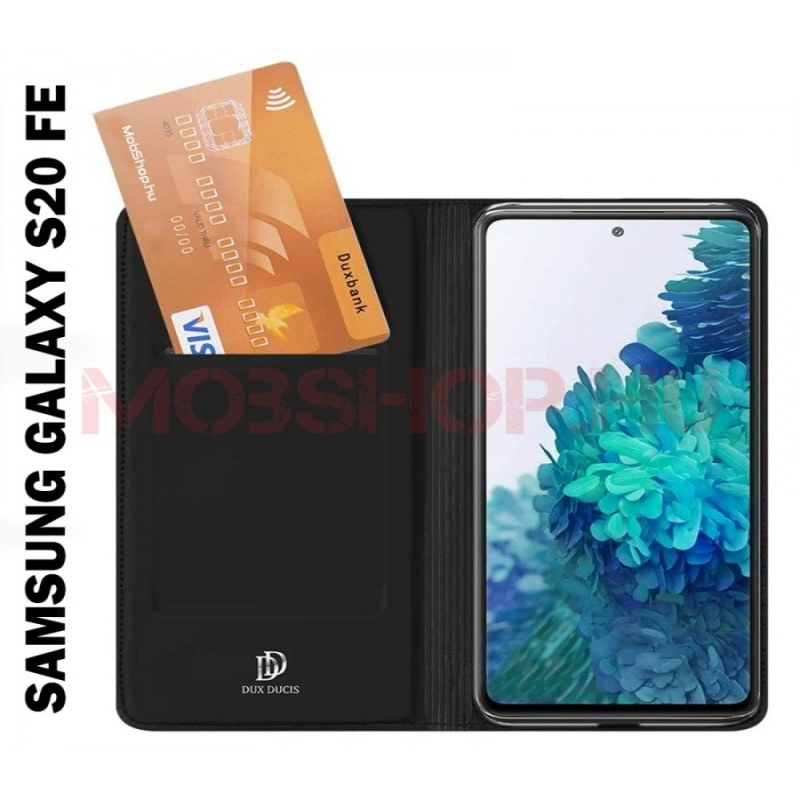 Samsung Galaxy S20 FE Dux Ducis skin pro flip telefontok, FEKETE - mobshop.hu