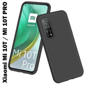 Xiaomi Mi 10T / MI 10T Pro prémium szilikon tok, FEKETE - mobshop.hu