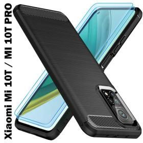 Xiaomi Mi 10T / MI 10T Pro karbon (carbon) mintás szilikon tok, FEKETE - mobshop.hu