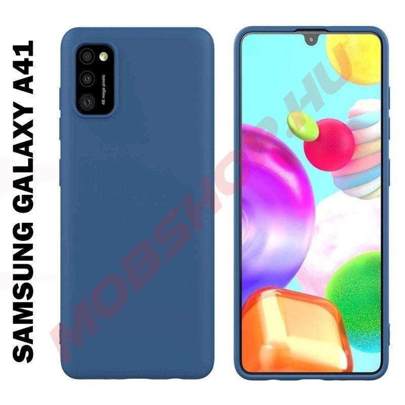 Samsung Galaxy A41 szilikon tok, KÉK - mobshop.hu