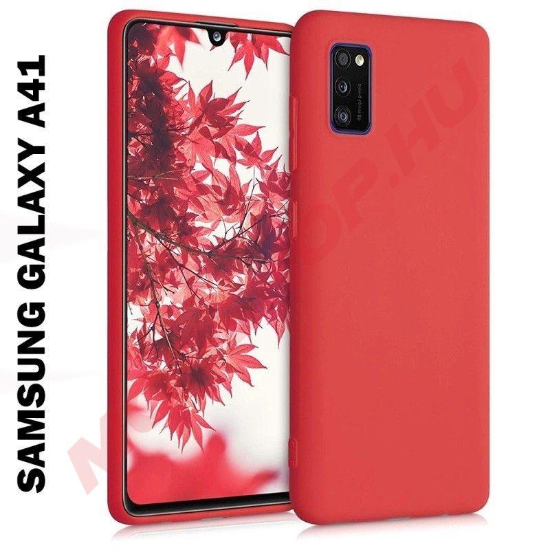 Samsung Galaxy A41 szilikon telefontok, PIROS - mobshop.hu