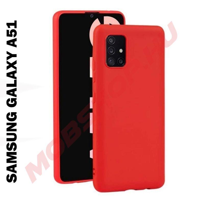 Samsung Galaxy A51 szilikon telefontok, PIROS - mobshop.hu