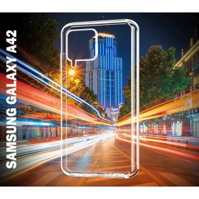 Samsung Galaxy A42 TECH-PROTECT kristálytiszta szilikon telefontok, ÁTLÁTSZÓ - mobshop.hu
