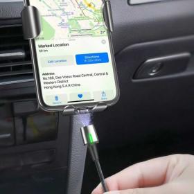 Baseus Zinc Magnetic Micro USB 2,4A töltőkábel 1 méter, FEKEKE - mobshop.hu
