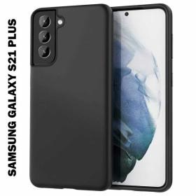 Samsung Galaxy S21 Plus szilikon telefontok, FEKETE - mobshop.hu