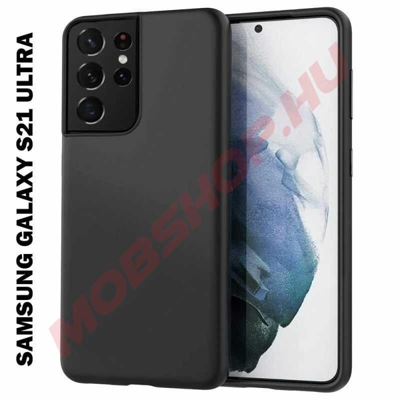 Samsung Galaxy S21 ULTRA szilikon telefontok, FEKETE - mobshop.hu