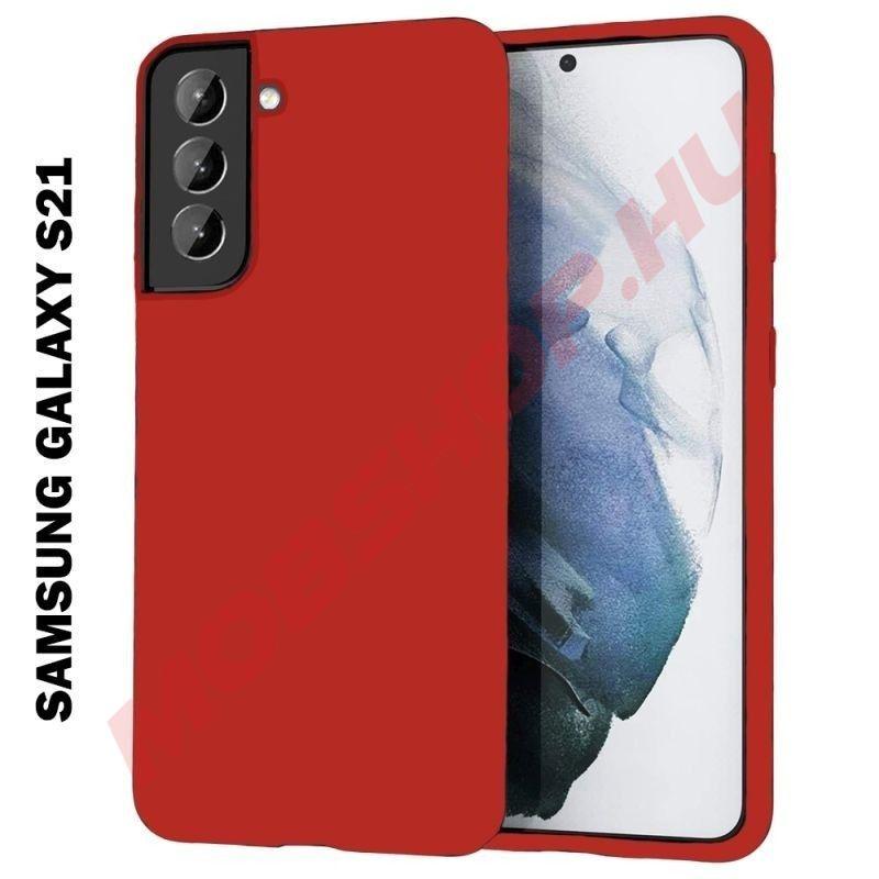 Samsung Galaxy S21 szilikon tok, PIROS - mobshop.hu