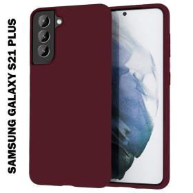 Samsung Galaxy S21 Plus szilikon tok, BURGUNDI - mobshop.hu