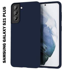 Samsung Galaxy S21 Plus prémium szilikon tok, SÖTÉTKÉK - mobshop.hu
