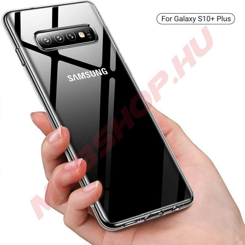 Samsung Galaxy S10 plus Jelly szilikon telefontok, ÁTLÁTSZÓ - mobshop.hu