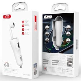 XO 18W autós töltőfej + bluetooth fülhallgató smart touch, Fehér - mobshop.hu