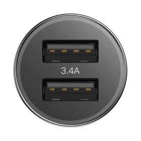 Baseus autós töltő, Small Screw Dupla USB + Type-C kábel, max 3.4A, fekete - mobshop.hu