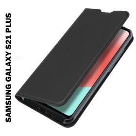 Samsung Galaxy S21 PLUS oldalra nyíló Prémium flip tok, FEKETE - mobshop.hu