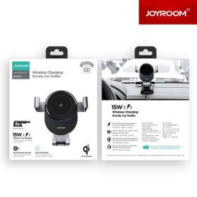 JOYROOM JR-ZS212 Blue Whale Dashboard 15W vezeték nélküli autós töltő és tartó - Fekete - mobshop.hu