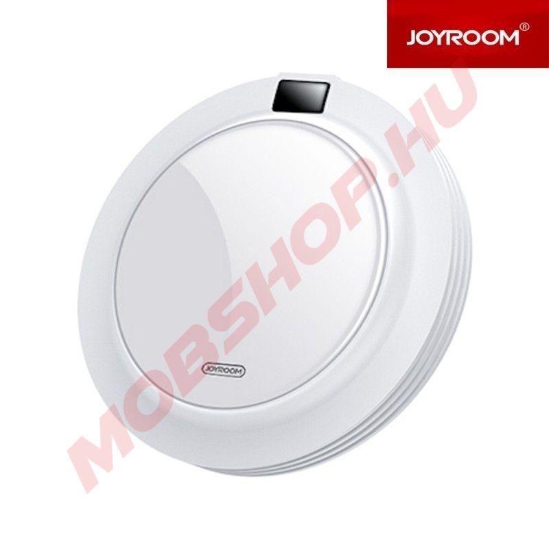JOYROOM JR-A16 Cooler QC 3.0 18W Töltőfej + Wireless Charger Asztali Töltő - Fehér - mobshop.hu