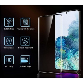 Samsung Galaxy S20 Hard Ceramic 9H kijelzővédő fólia fekete kerettel - mobshop.hu