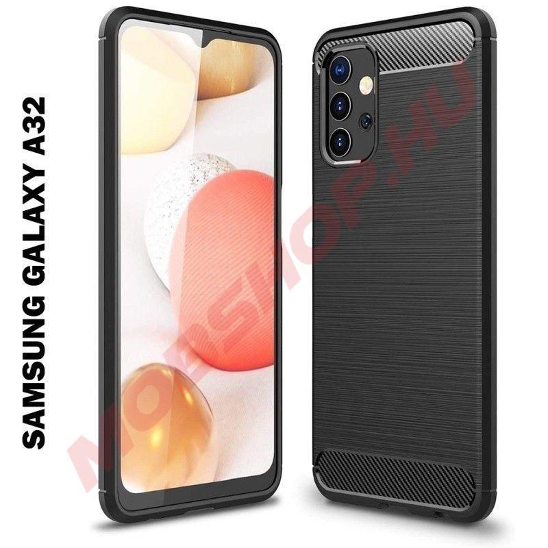 Samsung Galaxy A32 5G karbon (carbon) mintás szilikon tok, fekete - mobshop.hu