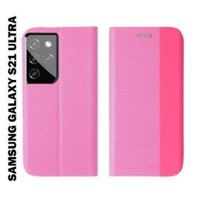 Samsung Galaxy S21 ULTRA oldalra nyíló shelter flip tok, pink - mobshop.hu