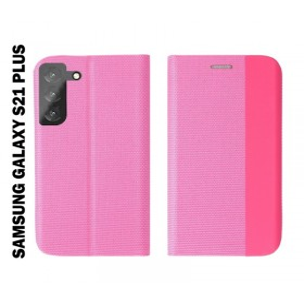 Samsung Galaxy S21 PLUS oldalra nyíló shelter flip tok, pink - mobshop.hu