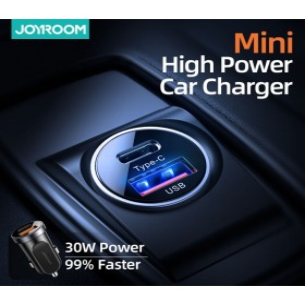 Joyroom C-A08 30W QC 3.0 + PD Autós Töltőfej - Kék - mobshop.hu