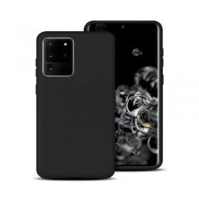 Samsung Galaxy S20 ULTRA prémium szilikon telefontok FEKETE - mobshop.hu