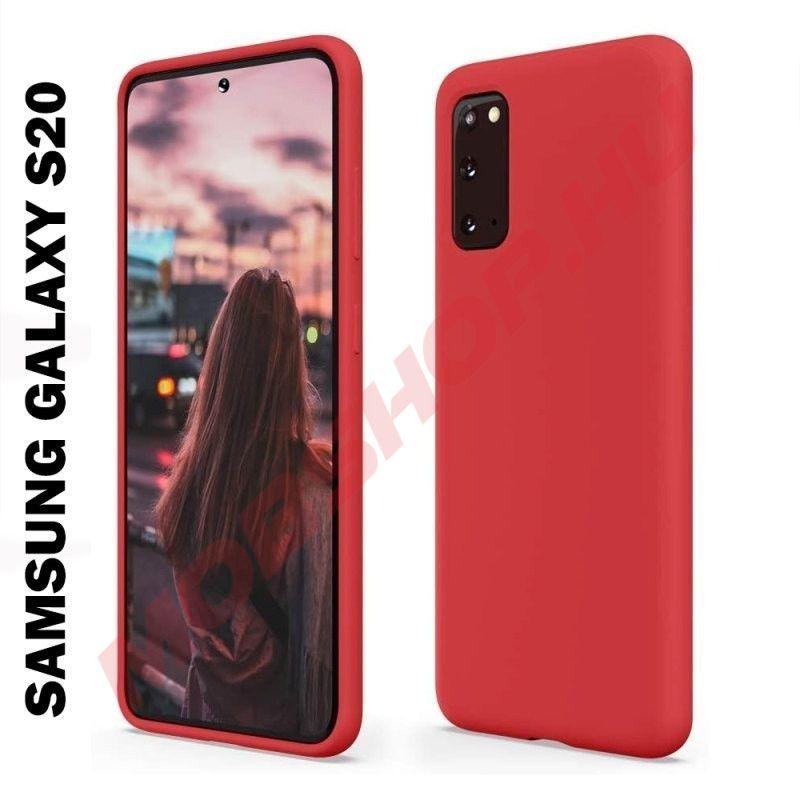 Samsung Galaxy S20 prémium szilikon telefontok PIROS - mobshop.hu