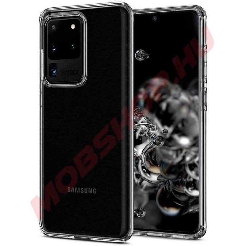 Samsung Galaxy S20 Ultra szilikon tok, ÁTLÁTSZÓ - mobshop.hu