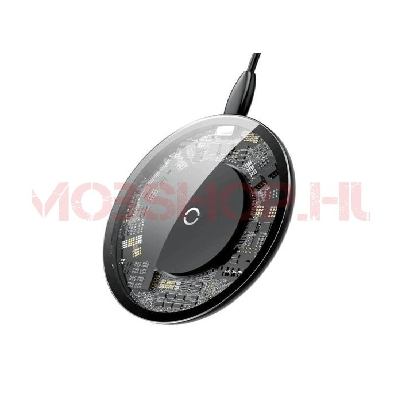 Baseus vezeték nélküli töltő, crystal design LIGHTNING kábel 1.2M - mobshop.hu