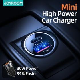 Baseus autós töltő, Magic Series Dual QC digitális kijelzővel gyors töltés, 45W, színátmenetes - mobshop.hu