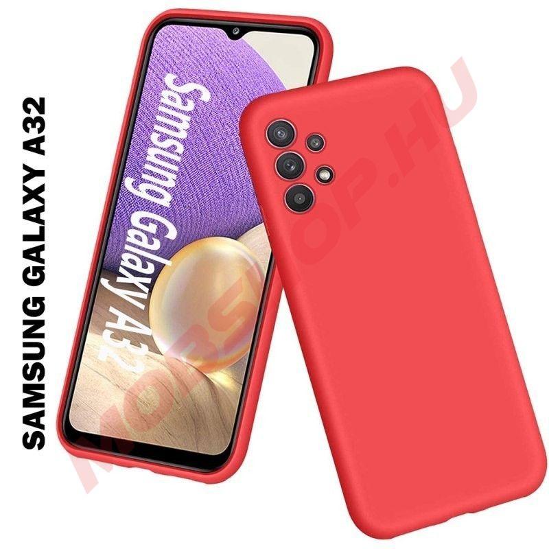 Samsung Galaxy A32 5G prémium szilikon telefontok, piros - mobshop.hu