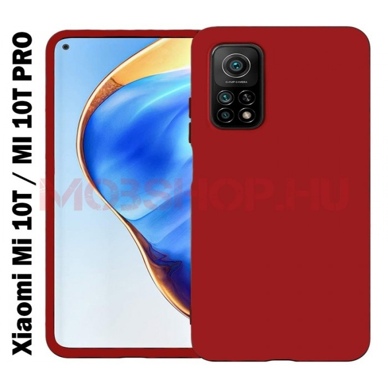 Xiaomi Mi 10T / MI 10T Pro prémium szilikon tok, piros - mobshop.hu
