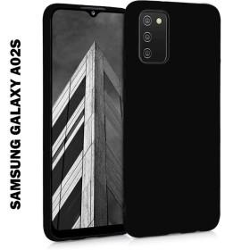 Samsung Galaxy A02S TECH-PROTECT ICON szilikon tok, fekete - mobshop.hu