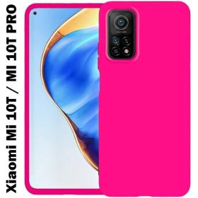 Xiaomi Mi 10T / MI 10T Pro prémium szilikon tok, pink - mobshop.hu
