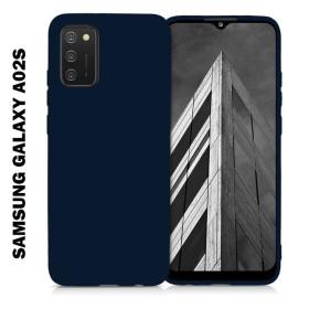 Samsung Galaxy A02S prémium szilikon tok, kék - mobshop.hu