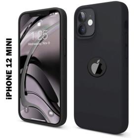 iPhone 12 MINI prémium szilikon tok, fekete - mobshop.hu