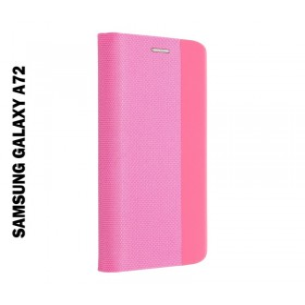 Samsung Galaxy A72 5G oldalra nyíló shelter flip tok, pink - mobshop.hu