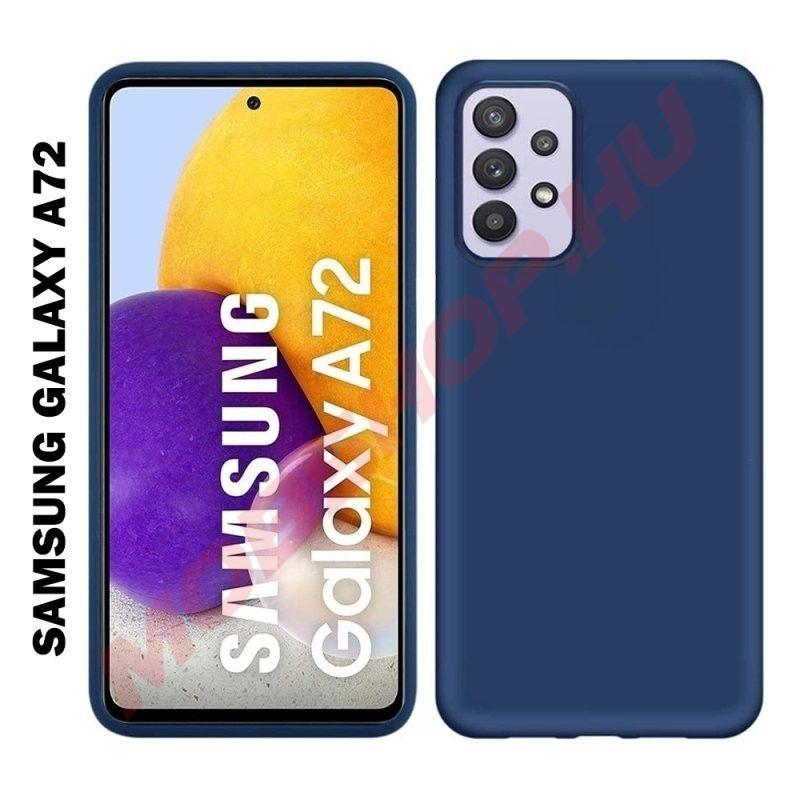 Samsung Galaxy A72 szilikon tok, sötétkék - mobshop.hu