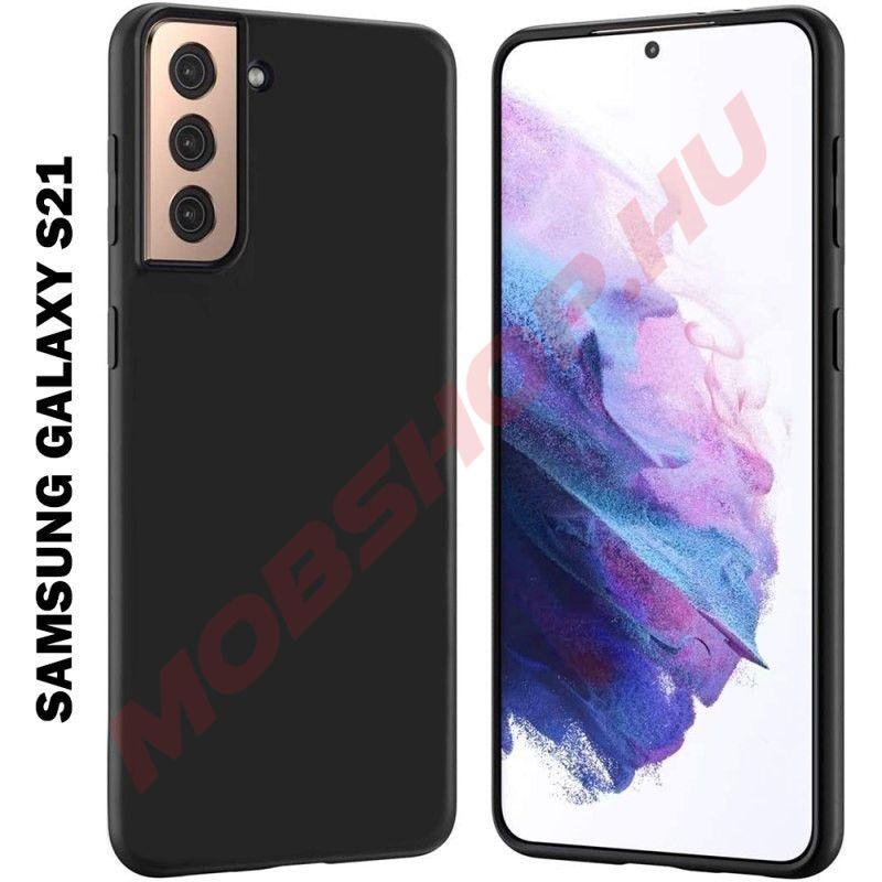 Samsung Galaxy S21 szilikon telefontok, FEKETE - mobshop.hu