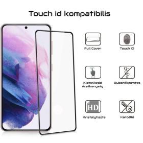 Samsung Galaxy S21 PLUS Full 3D (tokbarát) kijelzővédő üvegfólia - mobshop.hu