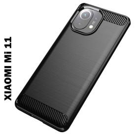 Xiaomi MI 11 karbon (carbon) mintás szilikon tok, FEKETE - mobshop.hu