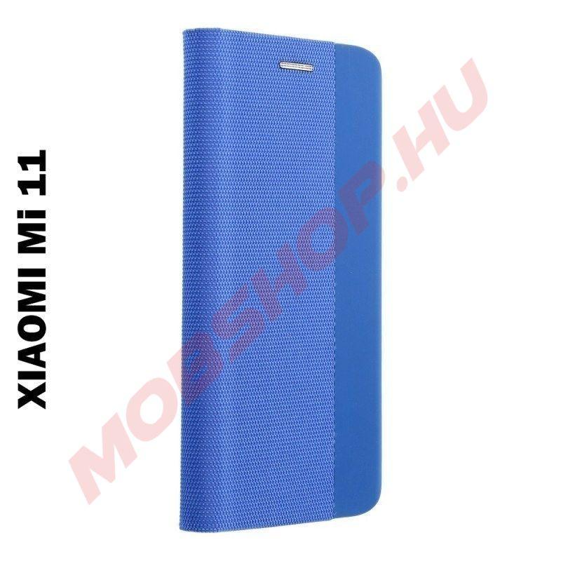 Xiaomi MI 11 oldalra nyíló shelter flip tok, kék - mobshop.hu