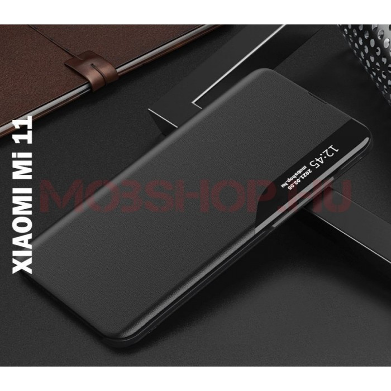 Xiaomi MI 11 TECH-PROTECT smart view flip tok, fekete - mobshop.hu