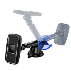 HOCO PRÉMIUM tapadókorongos vagy szellőzőnyílásra helyezhető mágneses vezeték nélküli autós töltő és tartó 15W, fekete - mobshop