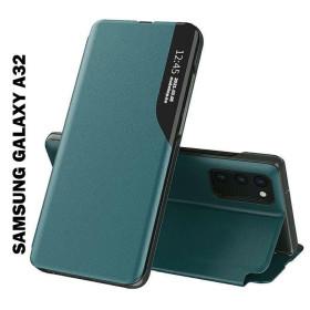 Samsung Galaxy A32 4G Smart View flip tok, sötétzöld - mobshop.hu