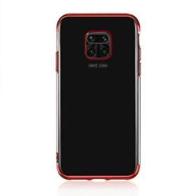 Xiaomi Redmi Note 9 / 9S / 9 PRO / 9 PRO MAX átlátszó szilikon telefontok, ELECTRO PIROS - mobshop.hu
